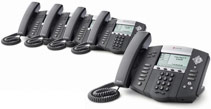 Polycom Soundpoint IP650 PoE 5-Pack