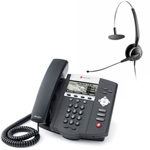 Polycom 2200-12450-001 w/ Corded Headset VoIP Corded Phone with Includ