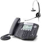 Polycom 2200-12550-001 w/ Corded Headset VoIP Corded Phone with Includ