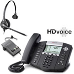Polycom 2200-12651-001 w/ Amplified Headset VoIP Corded Phone with Inc
