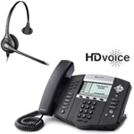 Polycom 2200-12651-001 w/ Corded Headset VoIP Corded Phone with Includ