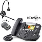 Polycom 2200-12670-001 w/ Amplified Headset VoIP Corded Phone with Inc