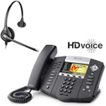 Polycom 2200-12670-001 w/ Corded Headset VoIP Corded Phone with Includ