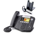 Polycom 2200-12670-001 w/ Wireless Headset VoIP Corded Phone with Incl