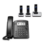 Polycom 2200-46161-025 w/ Three Handsets 6-line Entry-Level Business M