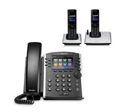 Polycom 2 Handsets polycom 2200 46162 025 vvx 410 with wireless handsets
