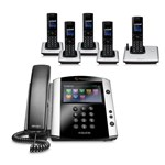 Polycom 2200-44600-001 w/ Five Handsets VVX 600 Business Media Phone w