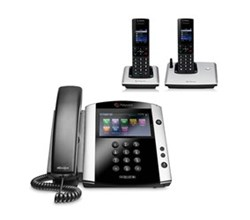 Polycom 2 Handsets polycom 2200 44600 025 vvx 600 with wireless handsets