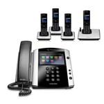 Polycom 2200-44600-025 w/ Four Handsets VVX 500 Business Media Phone