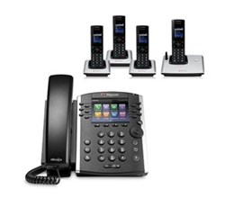 Polycom 4 Handsets polycom 2200 46162 001 vvx 410 with wireless handsets