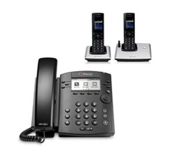 Polycom 2 Handsets polycom 2200 46161 001 VVX 310 with wireless handsets