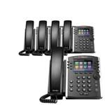 Polycom 2200-48450-025 (5-pack) VVX 411 12-line Desktop Phone