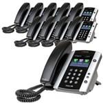 Polycom 2200-48500-001 (10-pack) VVX 501 12-line Business Media Phone