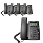 Polycom 2200-40250-001 (5-pack) 1-line Desktop Phone with power supply
