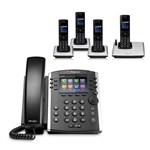 Polycom 2200-48450-025 w/ Four Handset VVX 411 12-line Desktop Phone