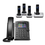 Polycom 2200-46157-025 w/ Four Handset 12-line Mid-Range Business Medi