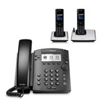 Polycom 2200-48300-001 w/ Two Handset 6-line Desktop Phone