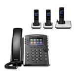 Polycom 2200-48400-001 w/ Three Handset 12-line Desktop Phone