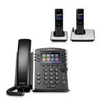 Polycom 2200-48450-001 w/ Two Handset VVX 411 12-line Desktop Phone wi
