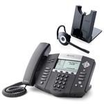 Polycom 2200-12550-025 w/ Wireless Headset SoundPoint IP 550 POE