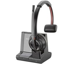 Wireless Headsets for Polycom Phones plantronics savi w8210 microsoft optimized single pack