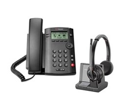 VVX 101 polycom vvx 101 with plantronics w8220
