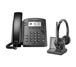 VVX 301 polycom vvx 301 with plantronics w8220