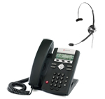 Polycom 2200-12360-001 w/ Headset Option SoundPoint IP 321 2-Line IP P
