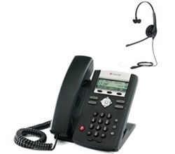 Polycom 2 Line SIP VOIP Phones polycom 2200 12365 025 w headset option