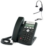 Polycom 2200-12360-025 w/ Headset Option-R SoundPoint IP 321 2-Line IP