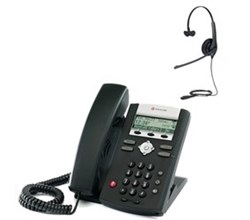 Polycom 2 Line SIP VOIP Phones polycom 2200 12365 001 w headset option
