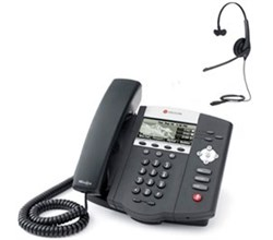 Polycom 3 Line SIP VOIP Phones polycom 2200 12450 025 w headset option