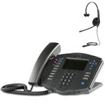 Polycom 2200-11531-001 w/ Headset Option-R SoundPoint IP 501 3-Line IP