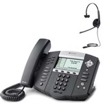 Polycom 2200-12651-025 w/ Headset Option-R SoundPoint IP 650 6-Line IP