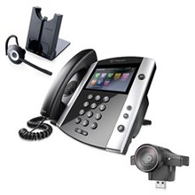 Polycom 16 Line Business Media Phones polycom 2200 44600 025 2200 46200 025 w Jabra Headset