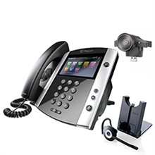Polycom 16 Line Business Media Phones polycom 2200 44600 001 2200 46200 025 w Jabra Headset Option
